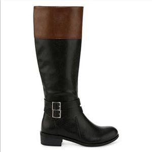 Black and Brown Tall Riding Boots 8.5M